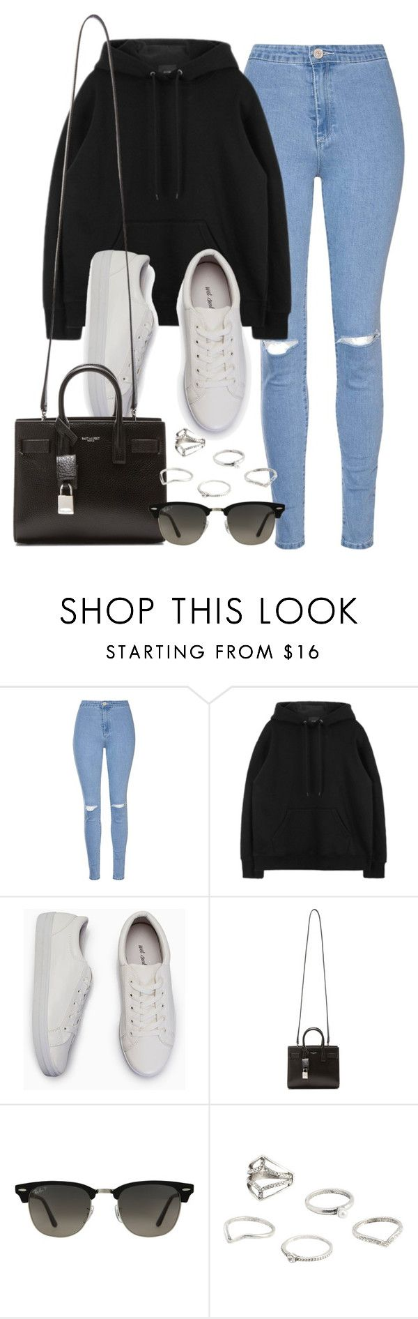"""""""Sin título #11986"""" by vany-alvarado ❤ liked on Polyvore featuring Glamorous, Yves Saint Laurent, Ray-Ban and MANGO"""