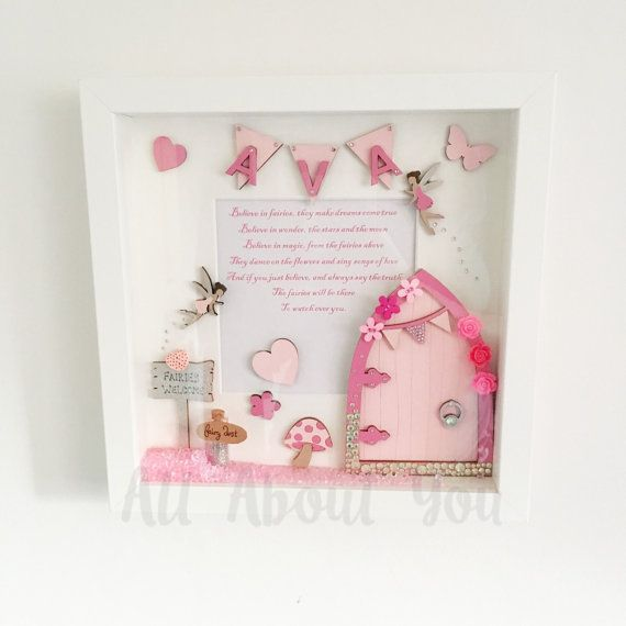 This fairy frame is perfect for a little girls bedroom. Hand painted and be customised with any name and colour to match your decor. *please message me with the name and colours you would like.  **doors may vary**