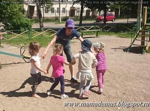 outdoor games Подвижные игры с детьми на улице 3-4 года