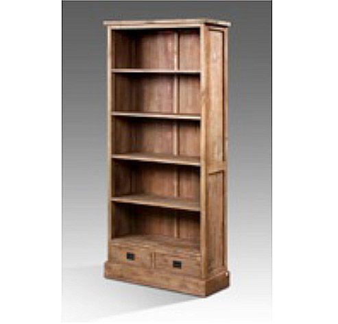 Высокий и вместительный стеллаж для книг из массива тика. Пять полок и два ящика. Два варианта покрытий - natural и rustic.             Материал: Дерево.              Бренд: Teak House.              Стили: Лофт.              Цвета: Коричневый.
