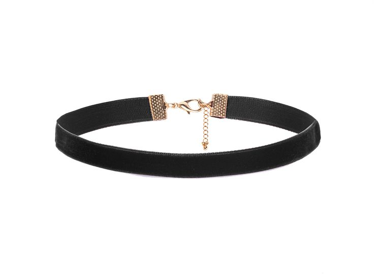 velvet thin black choker