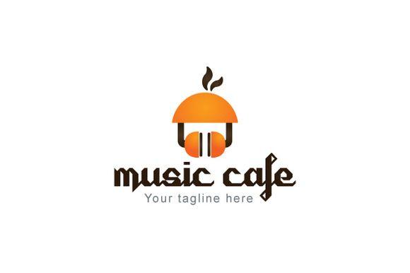 Music Café - Creative Stock Logo Des by VecRas Creations on Creative Market #LogoVenue #vecras #logoservices #vectorgraphic #logo #customservices #stocklogo #stockservices #stocklogos #creativelogo #logodesign #logodesignservice #design #graphic #foodlogo #cafelogo #musiclogo #music #cafe #iconiclogo