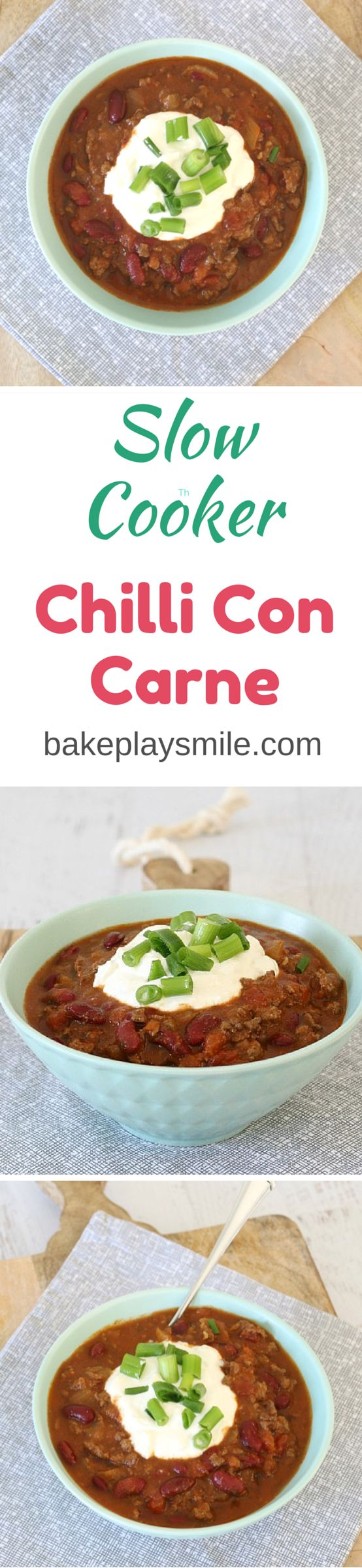 This is the best chilli con carne I've ever had. I love that you just pop everything into the slow cooker or crock pot and leave it to do it's thing! Love it!