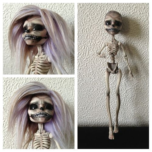 OOAK Monster High Repaint Fashion Art Doll Skeleton | eBay