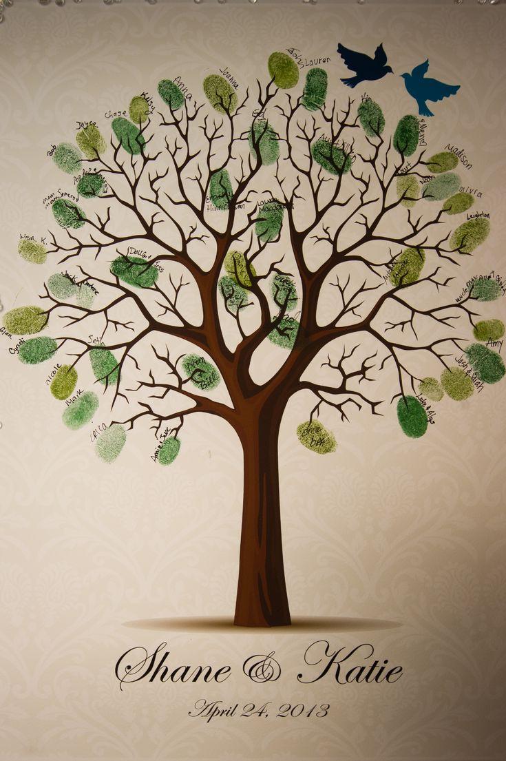 fingerprint tree guest book disneywedding our wedding pinterest tree guest books trees