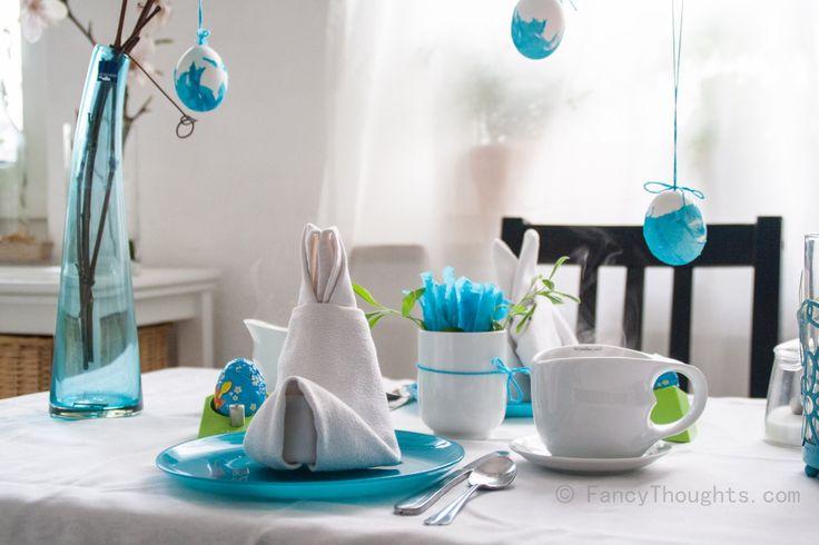 Osterhäschen für den Frühstückstisch! Frühlingshafte Farben und leckerer Tee