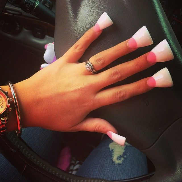 Duckfeet Itsmebarbie In 2019 Flare Nails Long Square Acrylic Nails White Acrylic Nails