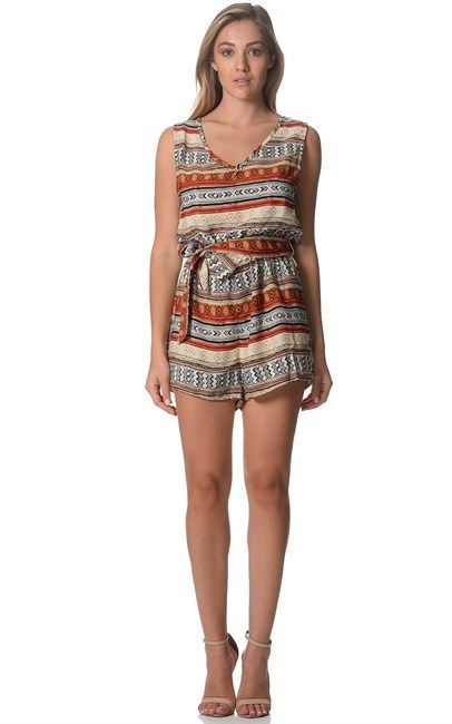 Ozsale - Aztec Stripe Savannah Playsuit by Otto Mode. Price was $75 and is now $25.