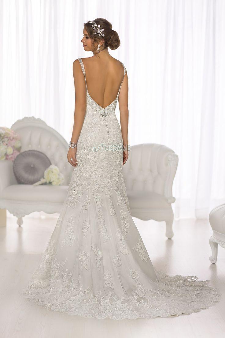 Sanduhrform keine Taille ärmellos formelles Elegantes Brautkleid mit Gericht Schleppe