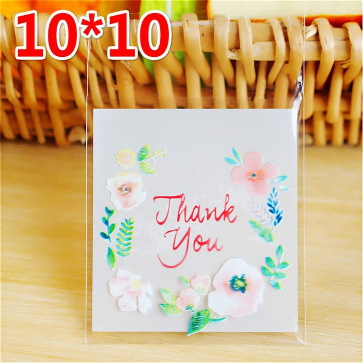 wholesale 50pcs/bag 10*10cm Plastic  Cellophane Candy Cookie Gift Bag Self Adhesive Pouch Wedding Birthday Party decoration-W #Affiliate