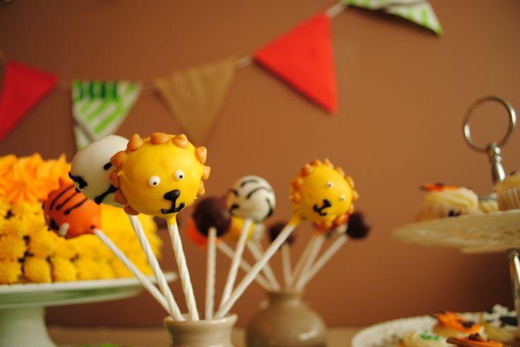 cakepops, animal cakepops