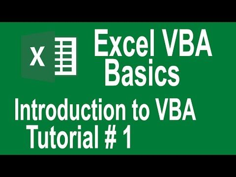 Excel VBA Programming Basics Tutorial # 1 | Introduction to VBA | Writing Our First Macro - YouTube