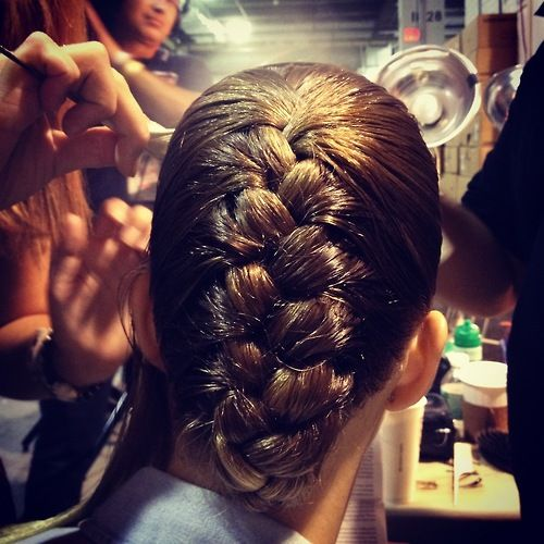 The hair at Jason Wu SS'13: Fashionweek, Jason Wu Spring, French Braids, Paris, Artists, Fashion Week, Dramatic Braids, Hairs Looks, Beauty Blog