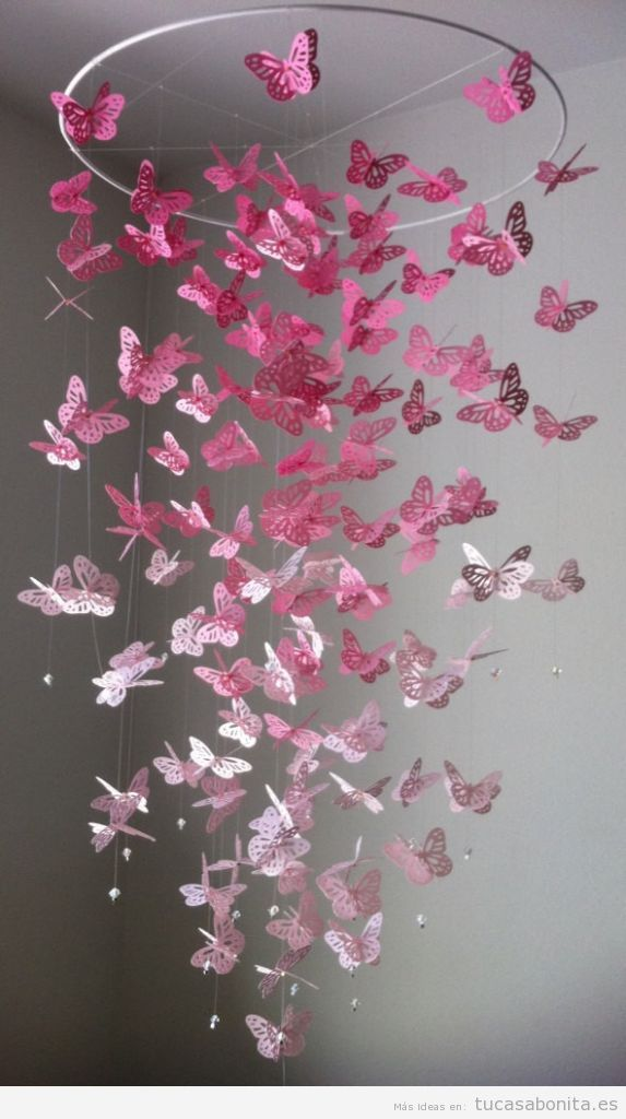 Moviles de papel DIY para colgar y decorar tu casa 3