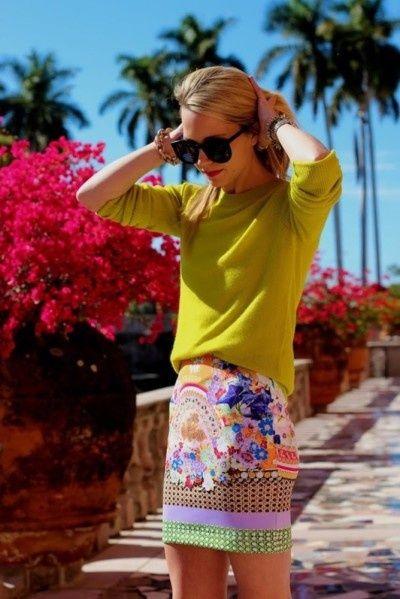tropical island print fashion