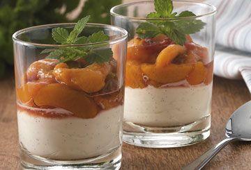 Dessert med italiensk mascarpone
