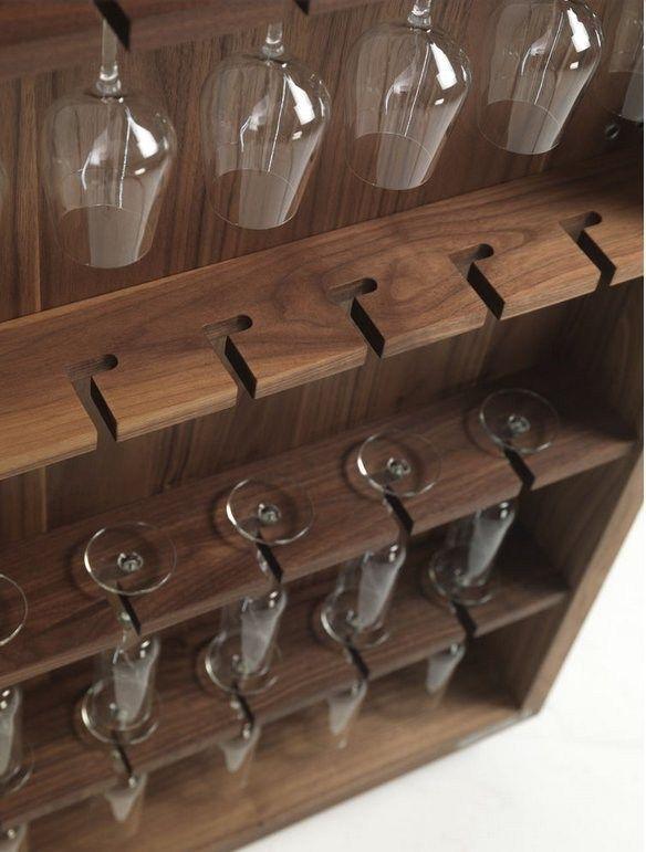Wooden bar cabinet CAMBUSA by Riva 1920 | design Giuliano Cappelletti