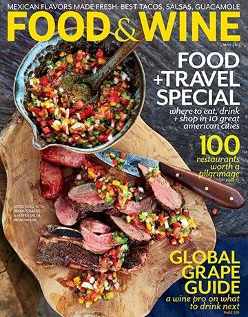 Food & Wine Magazine, May 2013 (searchable index of recipes)