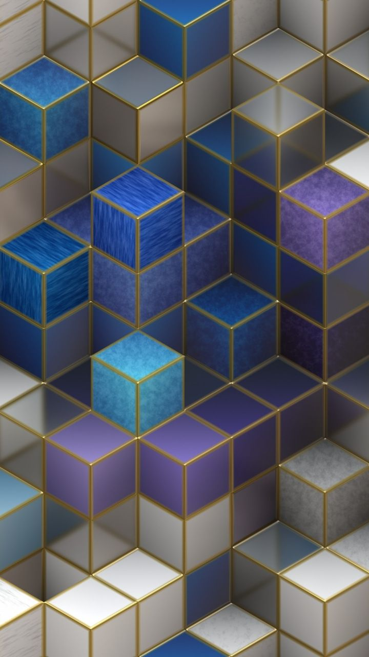 Cubes, cubic square, abstract, 720x1280 wallpaper   Iphone ...