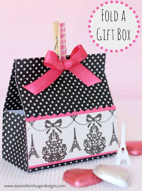 Fold A Gift Box from a Sheet of Cardstock | A Spoonful of Sugar