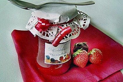 Erdbeermarmelade, ein tolles Rezept aus der Kategorie Sommer. Bewertungen: 48. Durchschnitt: Ø 4,2.