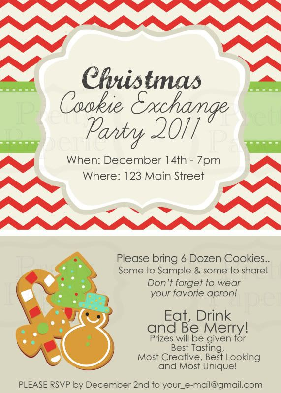 30 best Christmas Cookie Exchange Invitations images on Pinterest