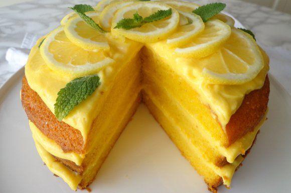 Torta al limone e limoncello