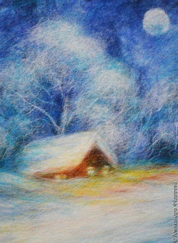 Картины из шерсти: мастер класс для начинающих и видео-галерея картин Нины Мазыревой