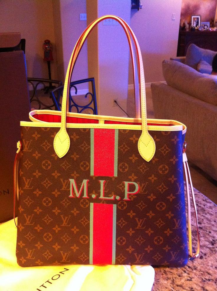 Personalized Louis Vuitton Mon Monogram Neverfull GM ...