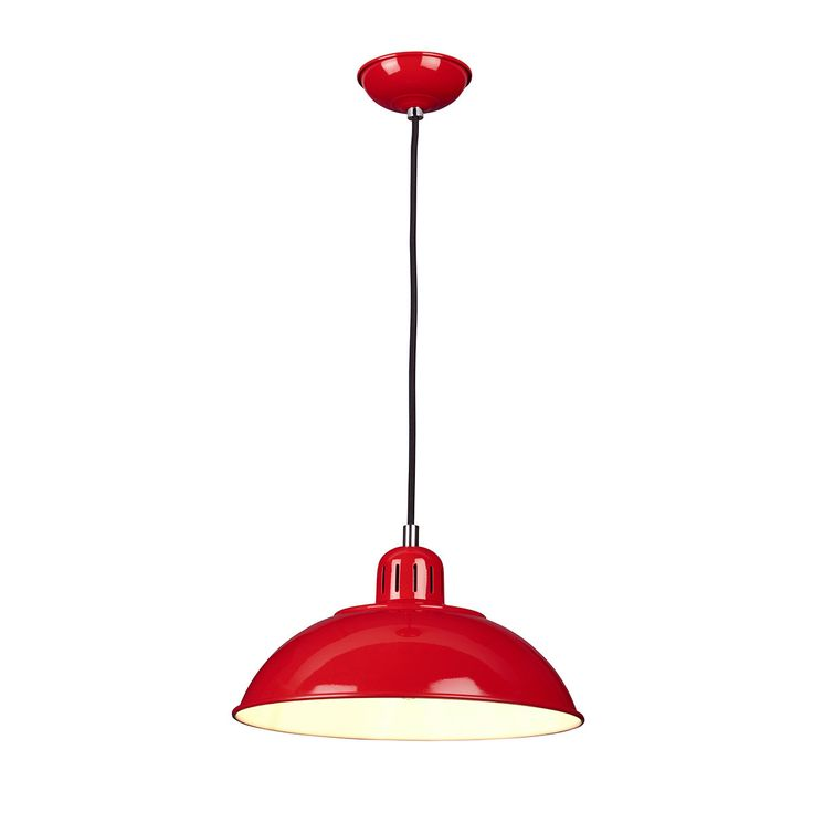 Elstead Franklin 1 Light Red Pendant Light