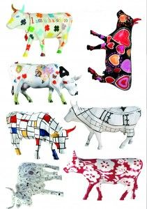 Fun and funky cow parade wall stickers, available from Wallpaper Direct