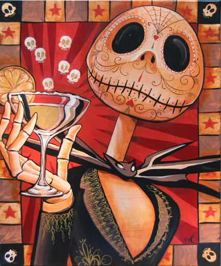 Day of the Dead Jack Skellington by Mike Bell. Perfect.