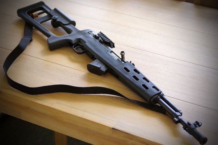 Norinco SKS 16in Carbine 7.62x39 cal. ATI Fibreforce stock, NCStar tri rail dust cover scope mount, 7 round Promag, recoil buffer and twist on muzzle brake.