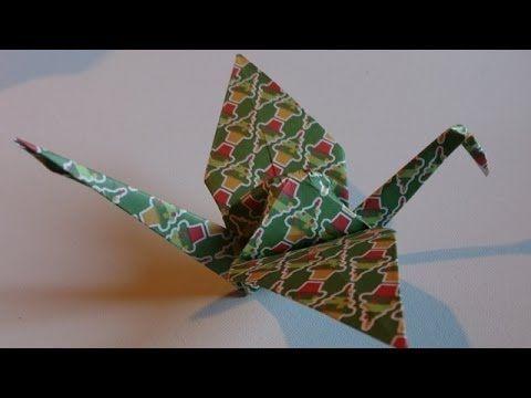 Origami ! La Grue Traditionelle. - YouTube