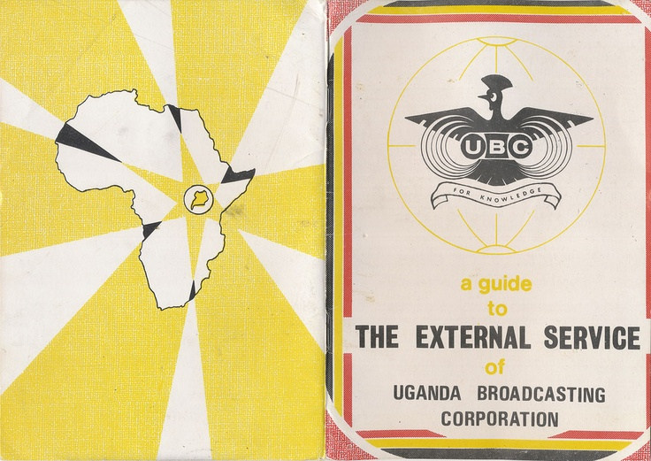 Guide to the External Services of the Uganadan Broadcasting Corporation. Undated, 1970s, from era of Idi Amin. Some pictures of facilities and equipment, schedules for shortwave broadcasts. Covers.