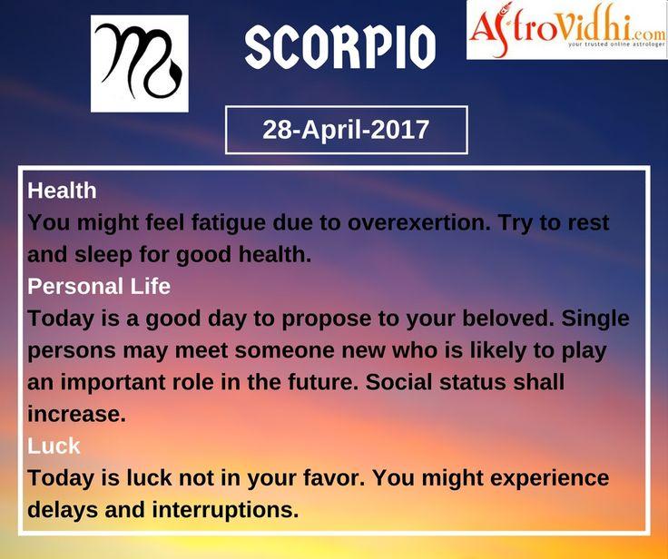 Read Your Free Sagittarius Daily Horoscope (28-April-2017). Read detailed horoscope at astrovidhi.com.