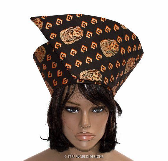 African hat/ Wrap around hat/ African hats/ by TessWorldDesigns