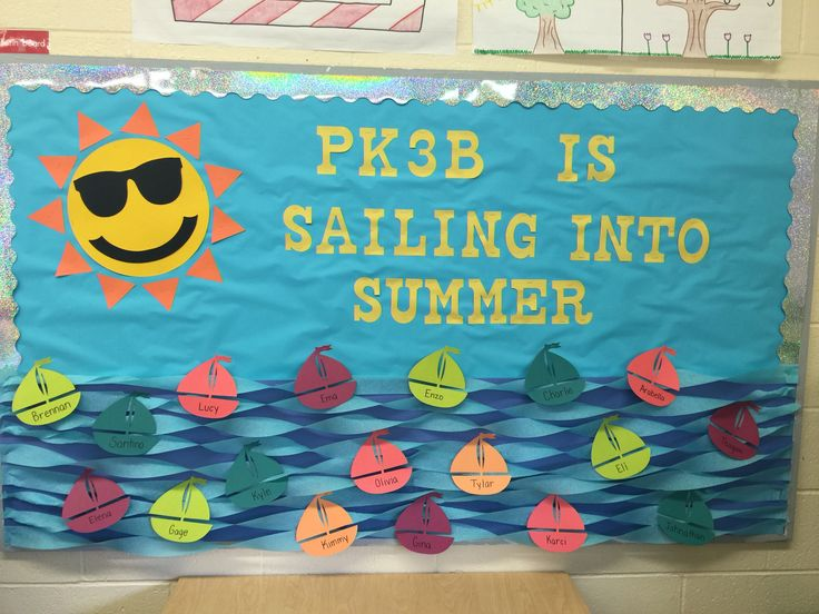 June Classroom Ideas : Sailing into summer bulletin board may june miss