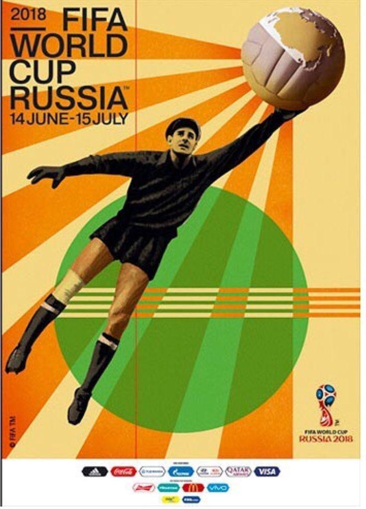 Póster mundial de fútbol  Rusia  2018