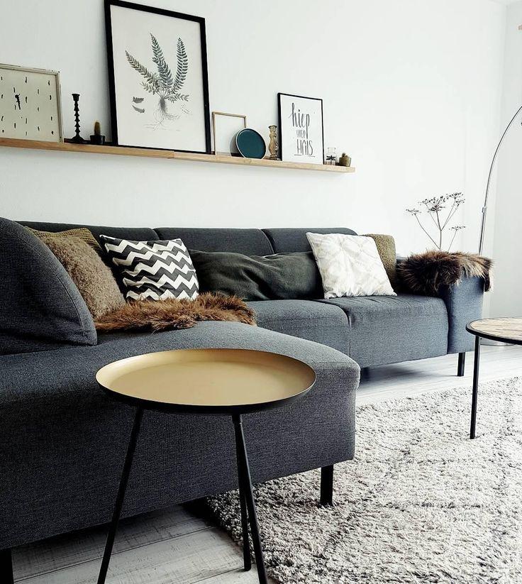 Beistelltische: Klein, aber oho! In unserem Zuhause wollen wir es so bequem und komfortabel wie möglich haben. Und genau das ist der Grund, weshalb wir die Beistelltische so lieben: Sie nehmen nicht viel Platz weg, sehen toll aus und sind uns im täglichen Leben eine große Hilfe. Das Beistelltisch- Set Spider sorgt für farbenfrohe Akzente im skandinavischen Design. We love it! // Wohnzimmer Teppich BeniOurain Sofa Grau Schwarz #Wohnzimmer #Beistelltisch #Sofa #WohnzimmerIdeen @angela_banken_