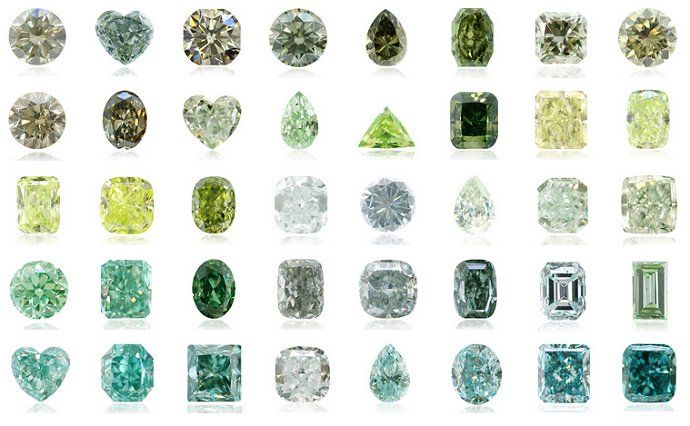 I know red diamonds are the rarest, but green diamonds are my favorite. If I ever win the lottery, one of the first things I'm buying is a natural green diamond...a BIG one!