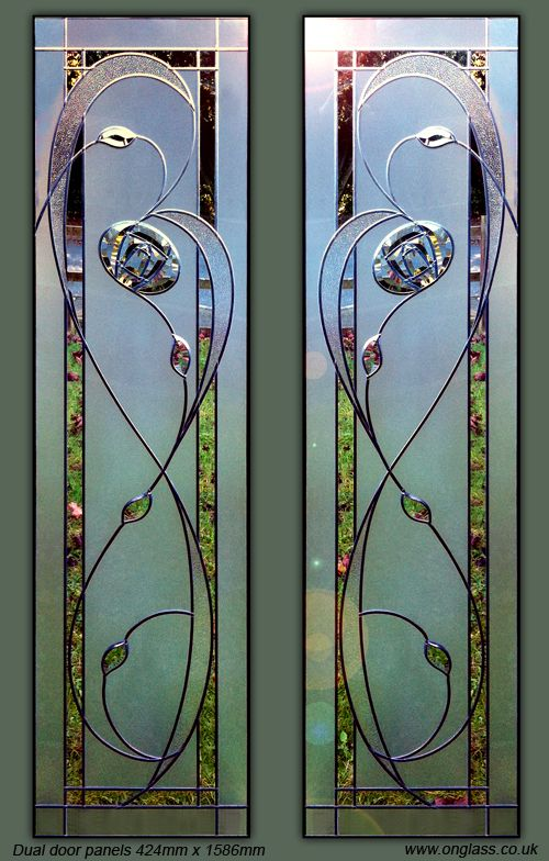 Image result for stained glass overlay on existing double glazing