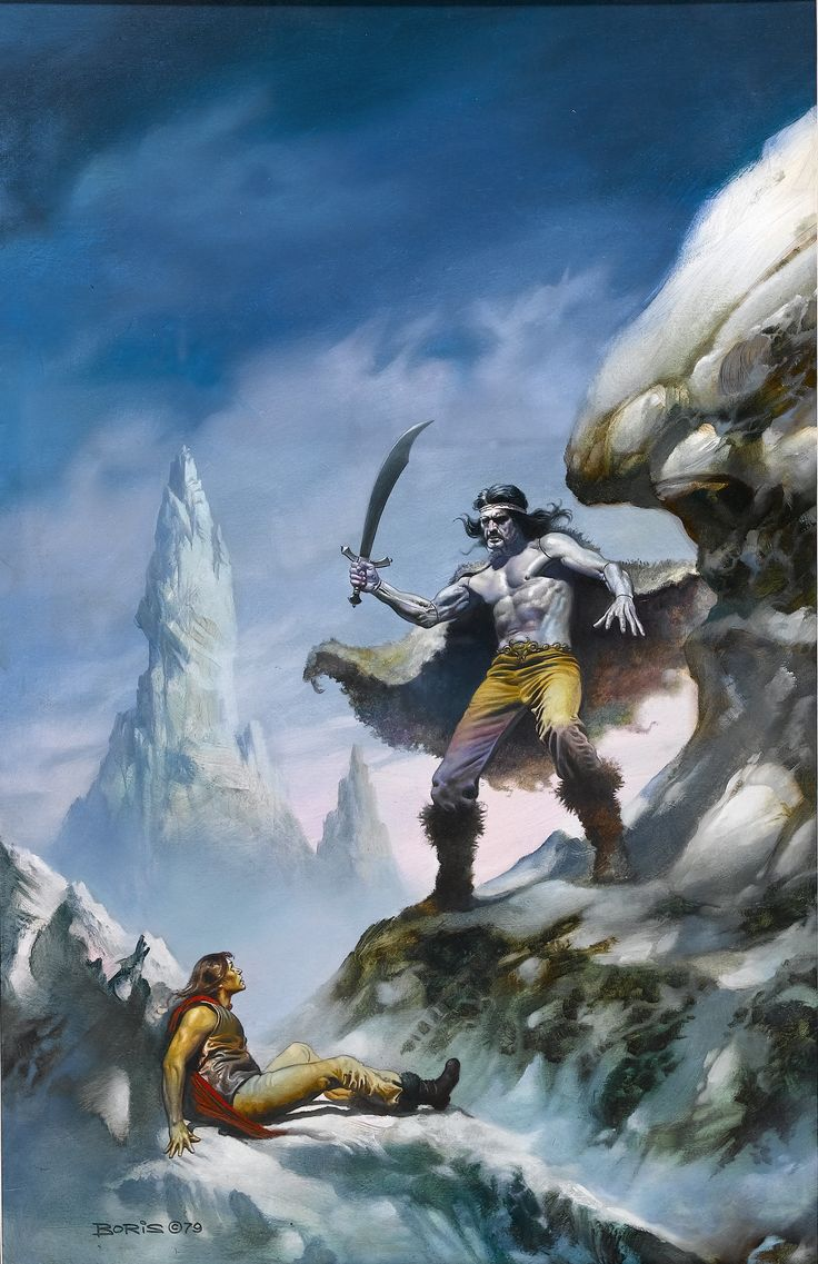 Boris vallejo berserkers cover painting