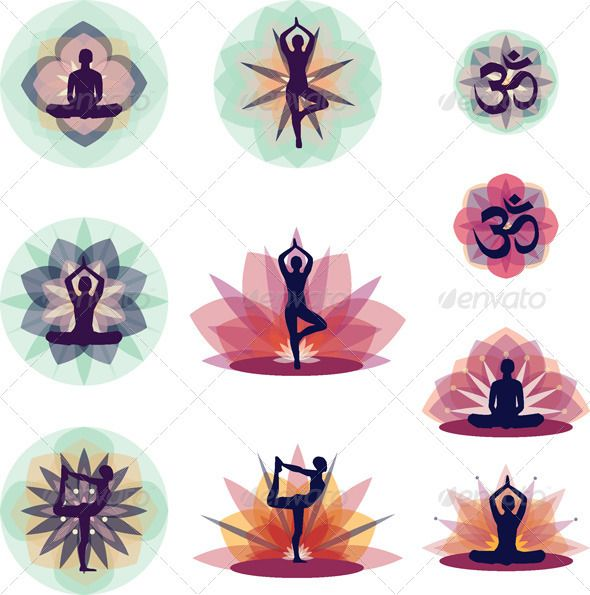 http://graphicriver.net?ref=snja    yoga silhouettes