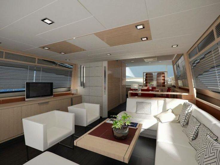 Interior del modelo Muse 74 de Rodman. Tapicerías interiores y exteriores realizadas por Manuel Lamarca.