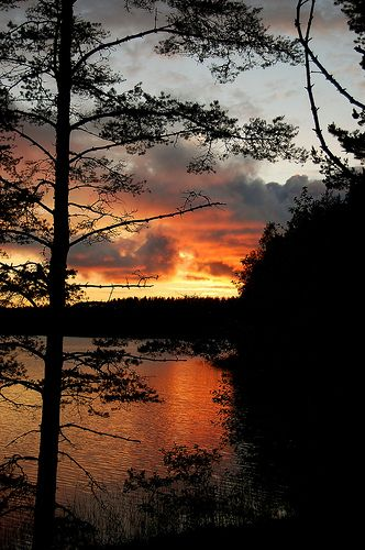 Summernight in Puruvesi, Punkaharju, Southern Savonia, Finland