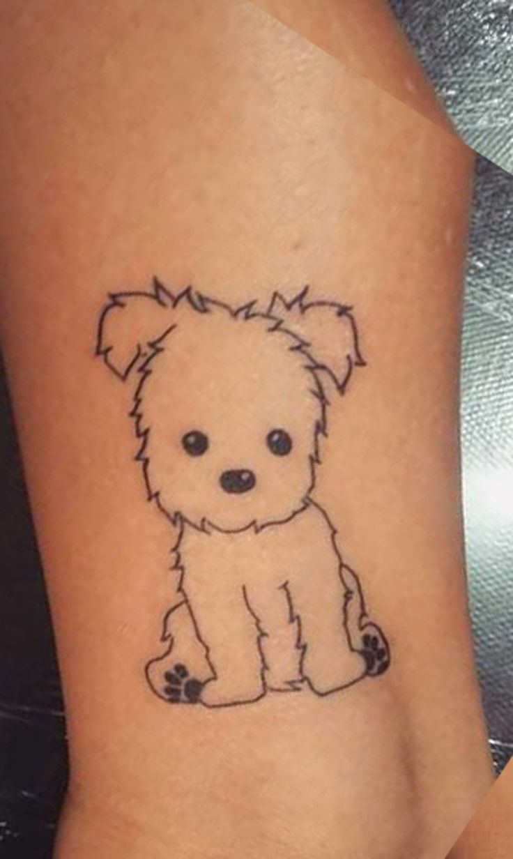 30 Cute Small  Simple Dog Tattoo Ideas For Women Animal -1136