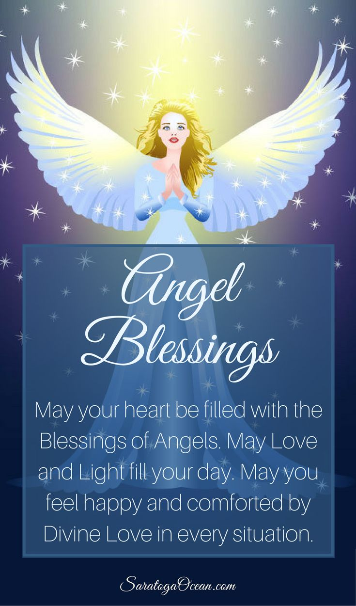 Here is a beautiful angel blessing to brighten your day. Take comfort in the fact that your angels are with you, always ready and willing to help. Namaste <3