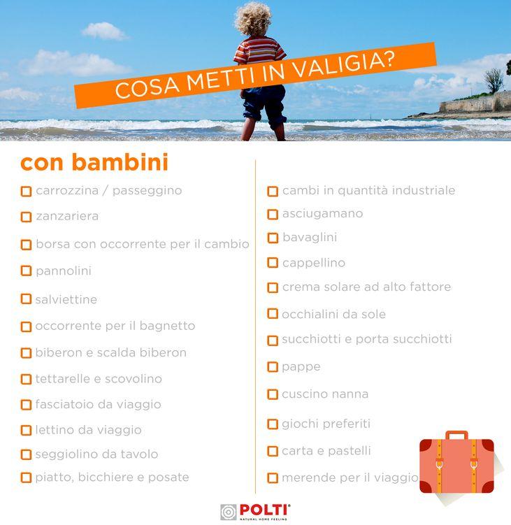 IN VACANZA CON I BIAMBINI. Scarica gratis la nostra checklist per fare la valigia al volo.