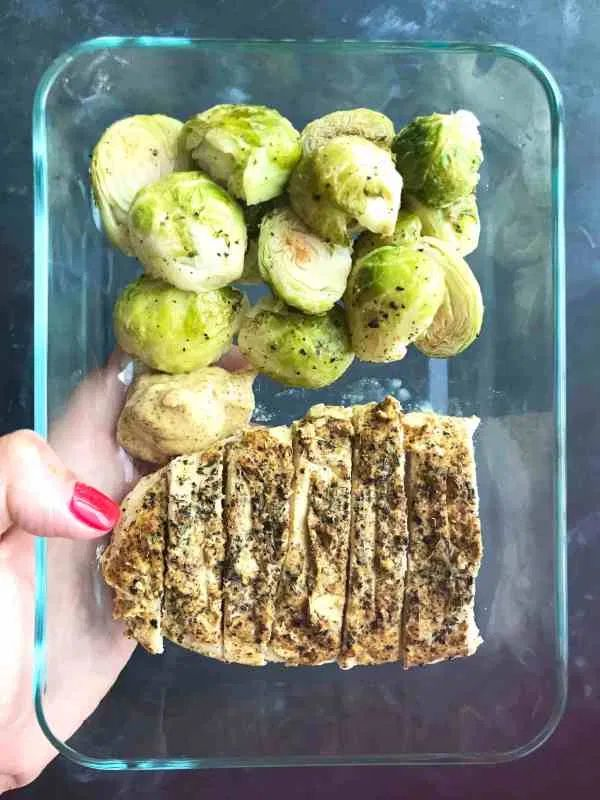 Spicy Mustard Thyme Chicken & Coconut Roasted Brussels Sprouts – Meal Prep on Fl…   – Food
